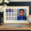 "School Years Photo Frame - 12 photo openings plus 8x10"" feature"