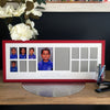 "School Years Photo Frame - Landscape frame with 12 photo openings plus two 6x4"" features (with Pre-School/Kindy/Prep)"
