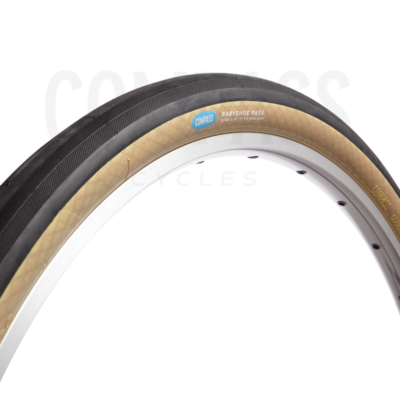 Rene Herse Babyshoe Pass Tyres by Compass 650B x 42mm (Tubeless compatible)