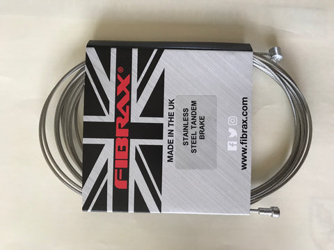 Fibrax  Stainless Steel TANDEM Brake Cable Inner 3metres x 1.5mm Double Ended