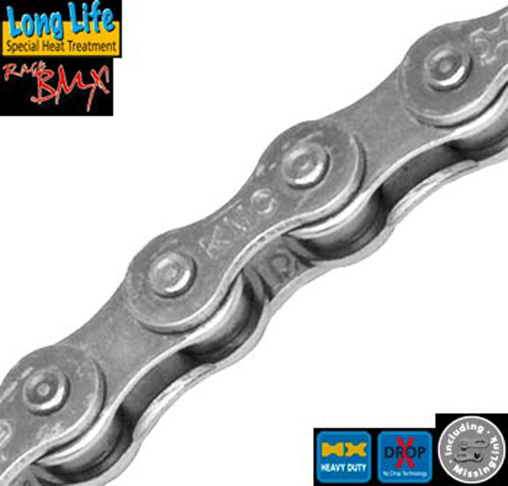 "KMC Z510 Hx Silver 1/8"" bicycle Chain"