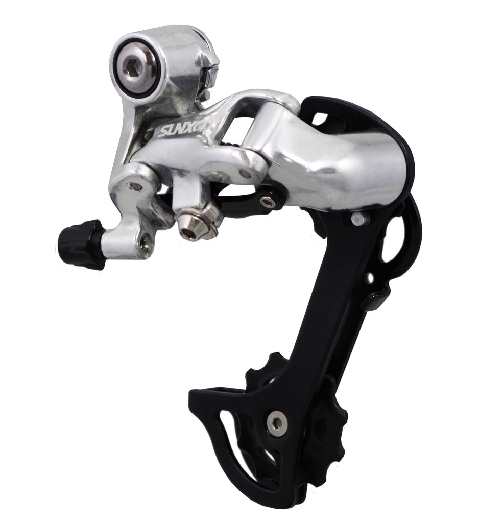 Sun Tour SunXCD Mirror Polished Alloy Rear Derailleur  8,9,10 speed Max 34 teeth