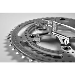 Velo Orange Grand Cru Drillium 110 Fluted Double Crankset, 34x48t