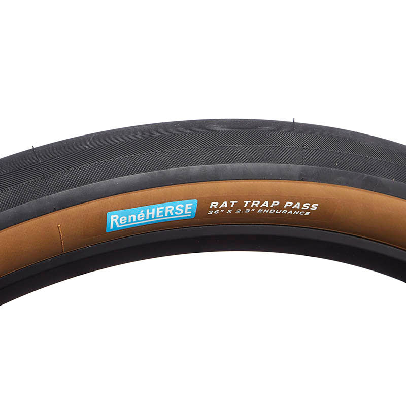 "Rene Herse Rat Trap Pass Tyres Endurance by Compass 26"" x  2.3"" (Tubeless compatible)"