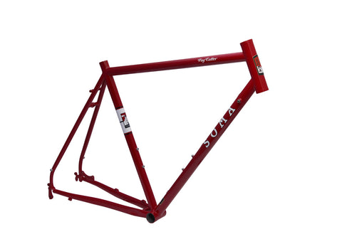 SOMA FOG CUTTER FRAMESET (RED) with matching Carbon Forks