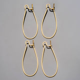 5 Pair Gold comfortable 22 gauge nickel-free kidney earwires, 13 x 31mm