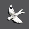 Choose Quantity, Cast Mykonos Pewter Finish Peace Dove Pendant, 35mm, Hole 2.5mm