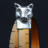 Big Cat Magnetic Clasp for Use with 10mm Flat Leather