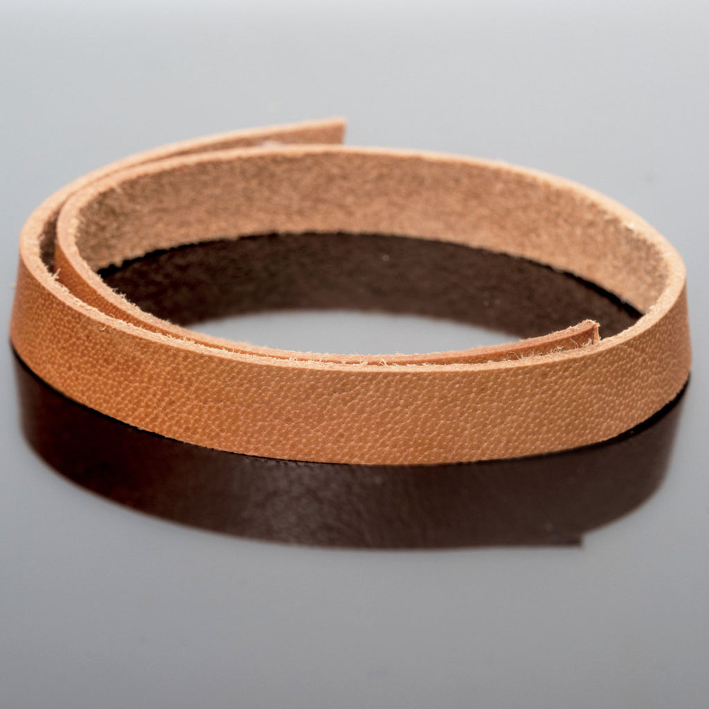 3 Feet 10mm leather strap two-sided color, Distressed Medium Brown