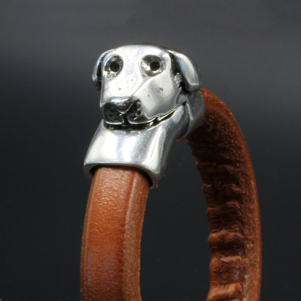 Magnetic Dog clasp for use with Regaliz licorice 10 x 6mm leather