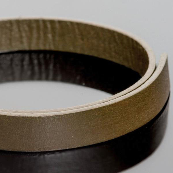 3 Feet 10mm leather strap two-sided color, Mehandi Olive Green