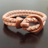 CLEARANCE Antique copper Zamak ring hook bracelet clasp for cord, 33 x 24mm