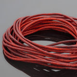 0.5 Round leather cord in Natural orange, 10 Feet