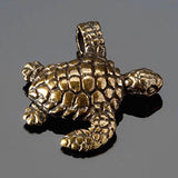 Sea turtle charm in lead free antique brass, 23 x 20mm