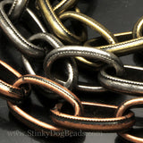 CLEARANCE 1 Foot Antique Copper Medieval chain, 8 x 14mm open links