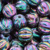 CLEARANCE 100 Iris purple Czech glass melon beads, 3mm