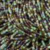"Choose (4) or (8) 22 Inch Strands, Size #0.5"" Aged Forest Picasso Bugle Seed Beads, 1.8mm"