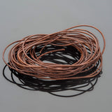 0.5mm round leather cord Natural light brown, 10 Feet