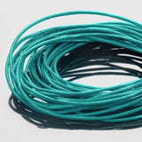 0.5mm Premium round leather cord in Esmeralda green, 10 Feet