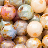 50 Opaque luster mix 6mm Czech glass beads
