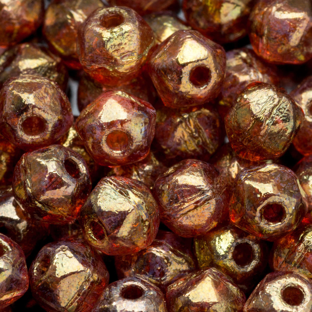 5 Grams or 100 beads Custom luster Czech English cut mix, 3mm