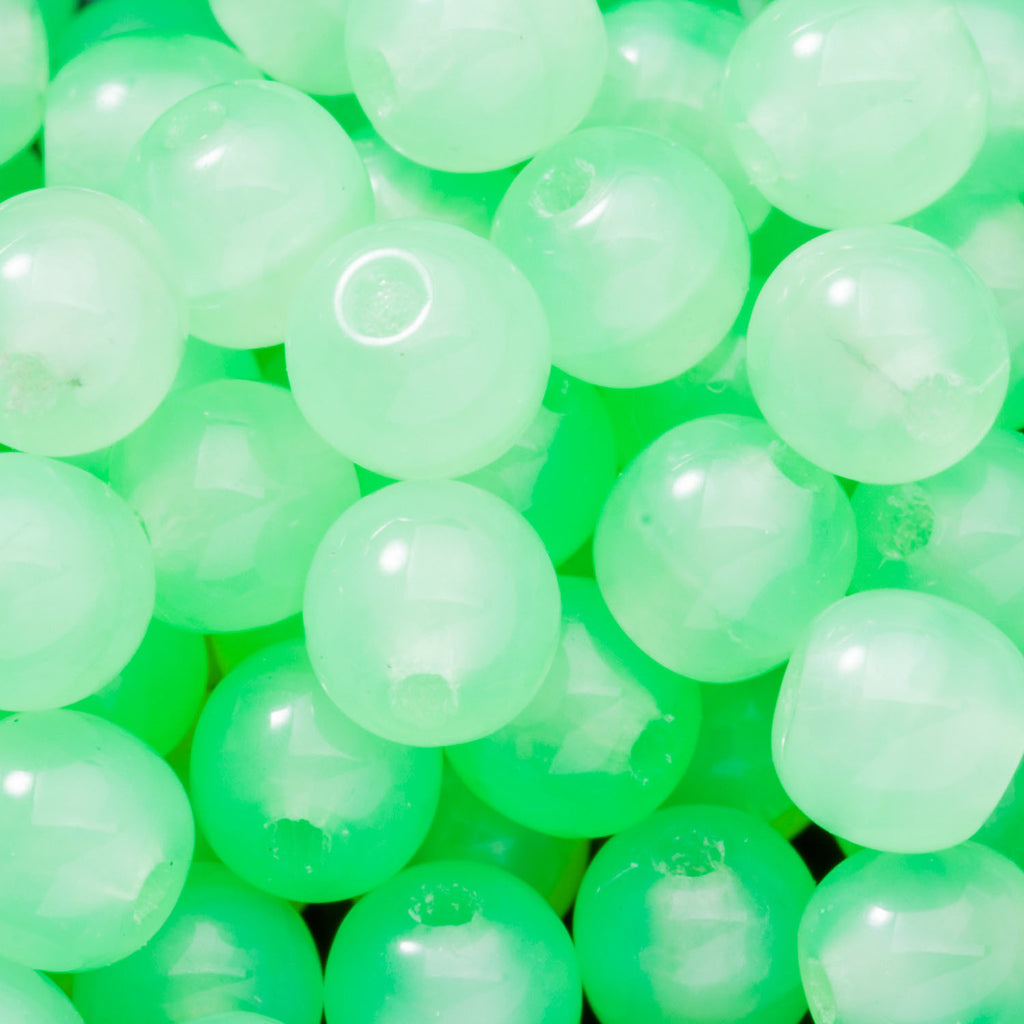 100 Milky Opal Green Round Czech glass beads, 4mm