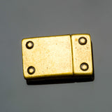 CLEARANCE Unisex antique brass rivet magnetic clasp for 10mm flat cord, For 10mm flat leather