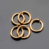 30 Gold 0.8mm 20 gauge wire 4.5mm O.D. jump rings