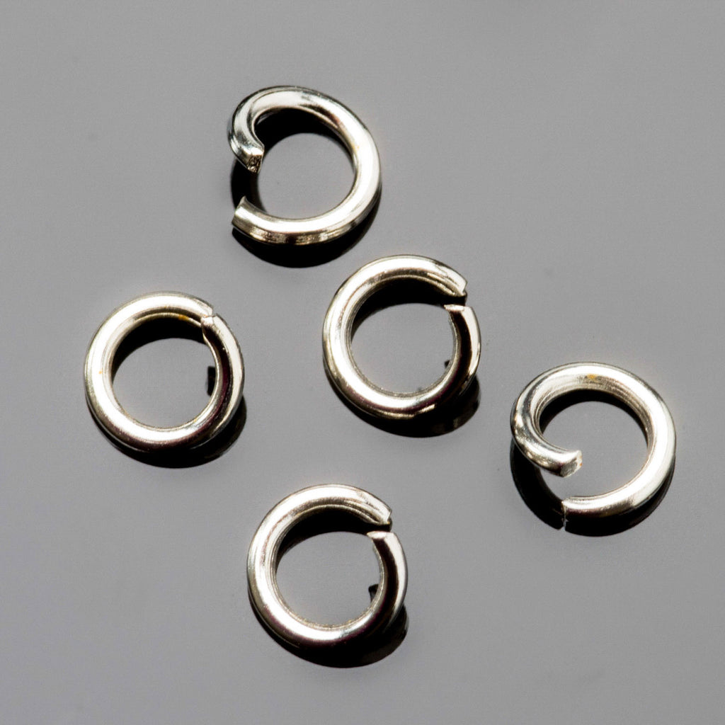 30 Sterling Silver 0.8mm 20 gauge wire 4.5mm O.D. jump rings
