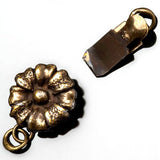One strand antique brass vintage style daisy box clasp, 14 x 9mm