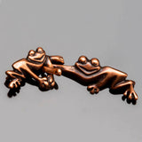 JBB Antique copper Hook and Eye Friendly frog clasp, 33 x 10mm