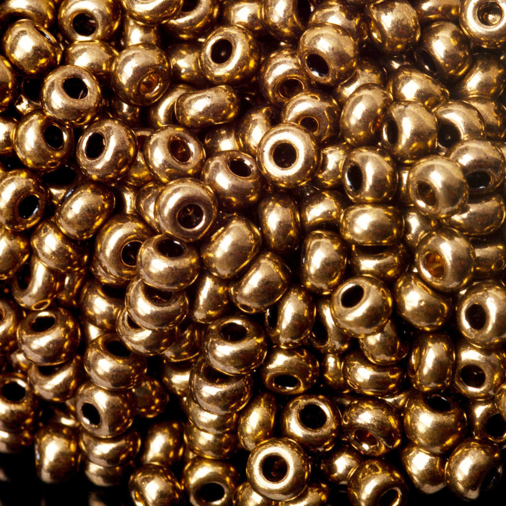 "60"" Total 8/0 Bronze Jablonec Czech glass seed beads"