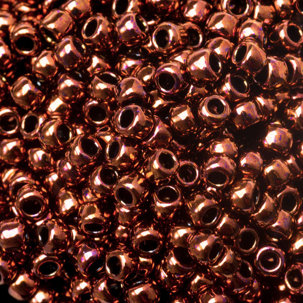8/0 Toho Dark Bronze #222, 10 Gram Bag, 12 beads per inch