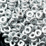 CLEARANCE 5 Grams Aluminum Silver O-Bead Czech seed beads, 1 x 4mm