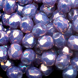 3 Grams or 100 beads, Purple iris luster Czech firepolished, 3mm