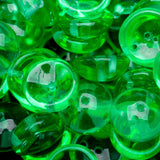 30 Transparent green Czech glass 2-Hole Piggy beads, 4 x 8mm