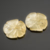 2 Cultured Faux Sea Glass Earring Size Sand Dollar Pendants, Lemon, 21 x 19mm