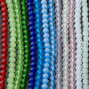 One Strand of 48 Cultured Faux Sea Glass Round Beads, Opaque Sky Blue, 4mm