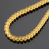 One Strand of 65, Cultured Faux Sea Glass Rondelle Beads, Desert Gold, 4 x 3mm