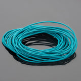 1.5mm round leather cord in Turquoise, 10 Feet