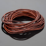 1.5mm round leather cord in Natural Red Brown, 10 Feet