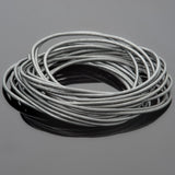 0.5mm Round leather cord in Metallic grey, 10 Feet