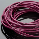2mm premium round leather Natural cyclamen cord, 10 Feet