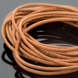 2mm Round leather cord in Natural, 10 Feet