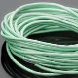 1.5mm round leather cord Metallic Oasis Turquoise, 10 Feet
