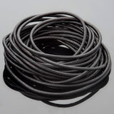 2mm round leather cord Natural black, 10 Feet