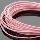 0.5mm round leather cord in light pink, 10 Feet