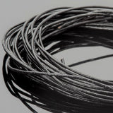 0.5mm round leather cord Natural black, 10 Feet
