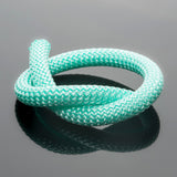 2 Feet 10mm Round Braided Nylon climbing cord cotton core, Cyan