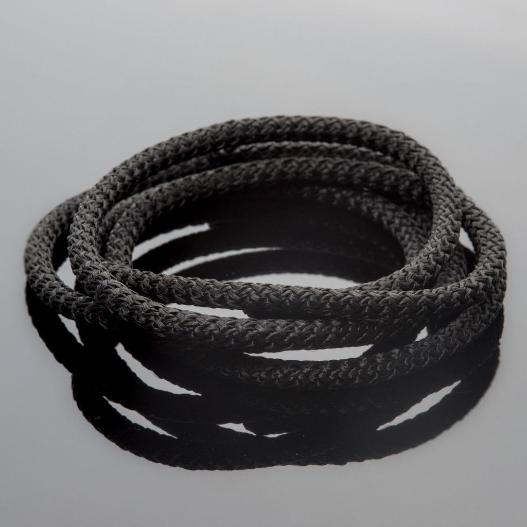 5 Feet 5mm Braided Nylon climbing cord cotton core, Black